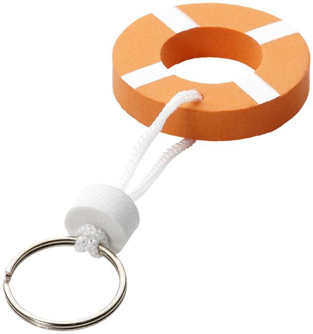 Lifesaver Flytande Nyckelring Orange, Vit