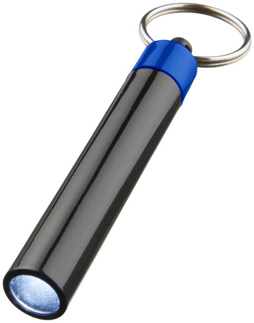Nyckelring med lampa Kungsblå, Svart