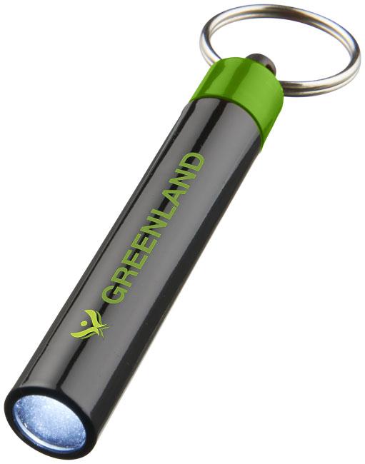 Nyckelring med lampa Grön, Svart