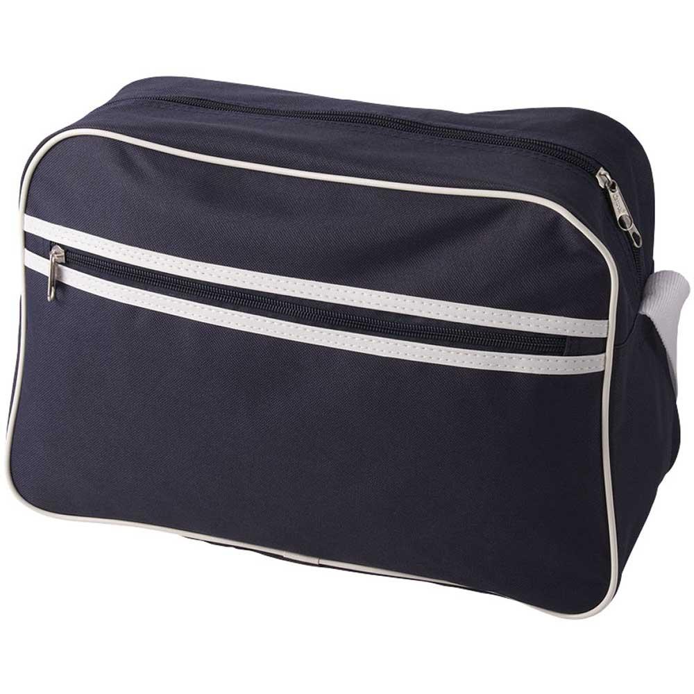 Shoulder Bag Marinblå, Vit