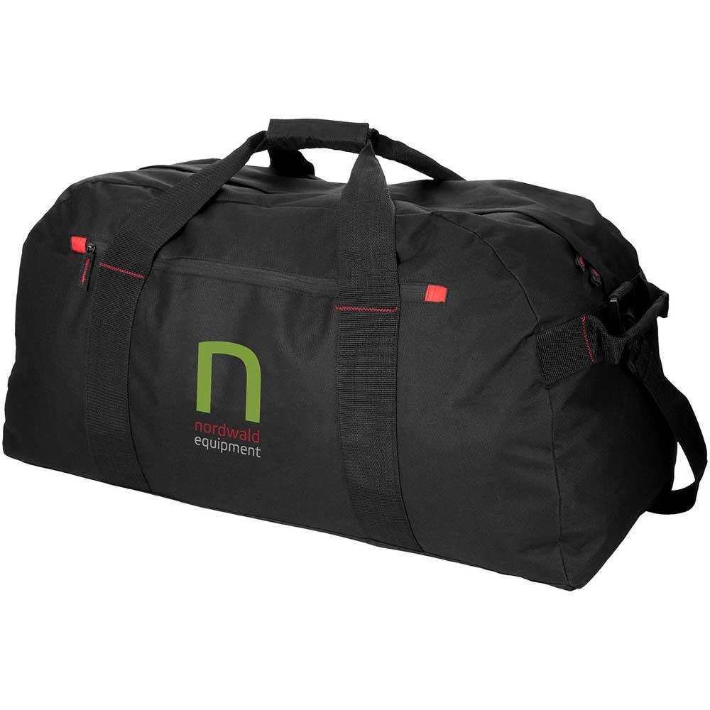 XL Travelbag svart,röd