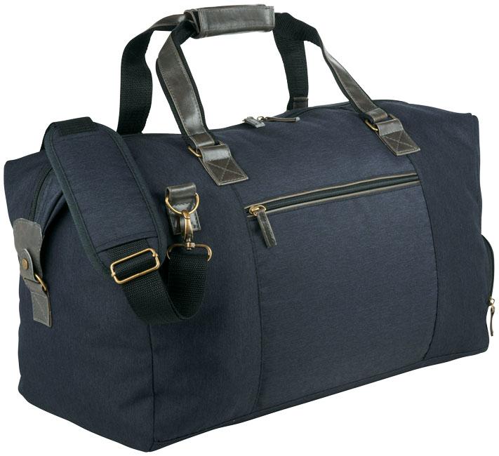Grafitgrå rymlig väska med skofack