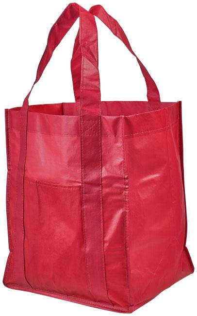 Savoy Non Woven laminerad shoppingkasse röd