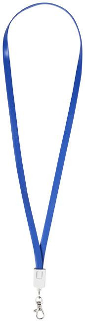 Logoband / laddningskabel kungsblå