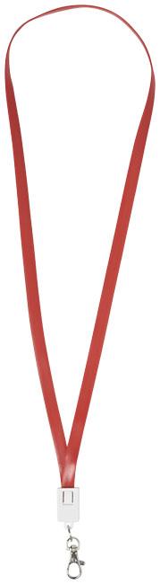 Logoband / laddningskabel röd