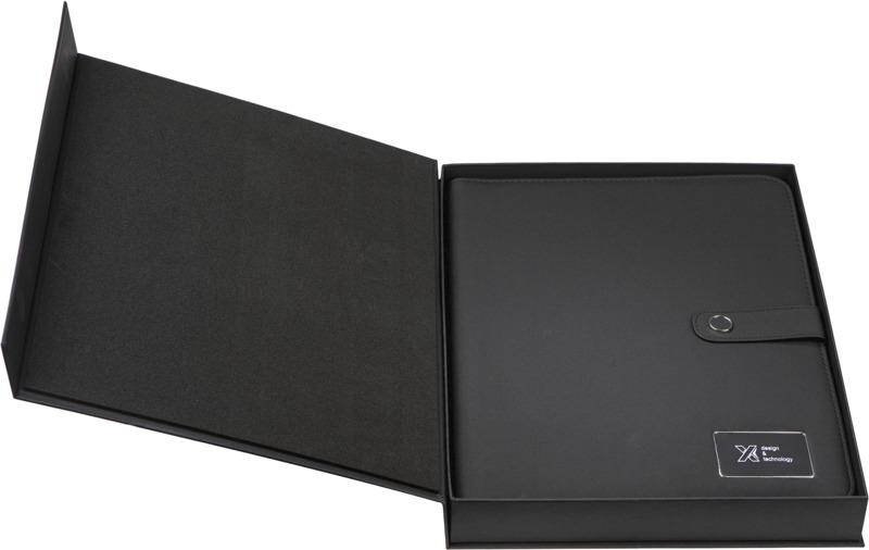 SCX light-up A4-anteckningsbok med powerbank