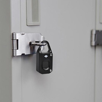 SCX design, fingerprintpadlock svart