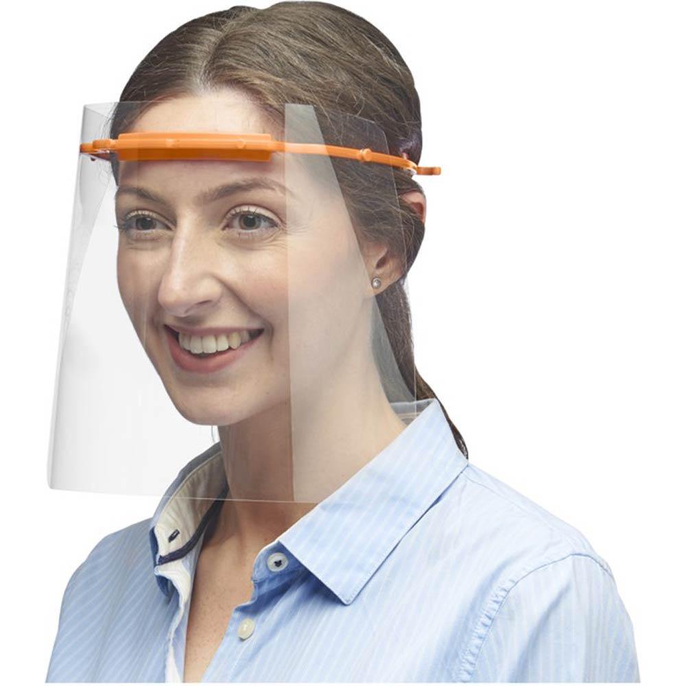 Skyddande ansiktsvisir Orange