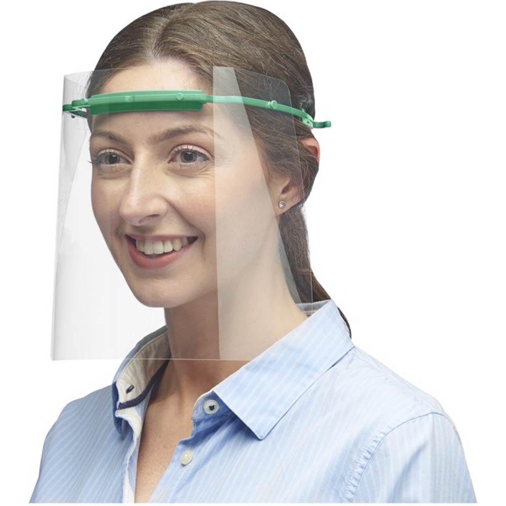 Skyddande ansiktsvisir Medium grön