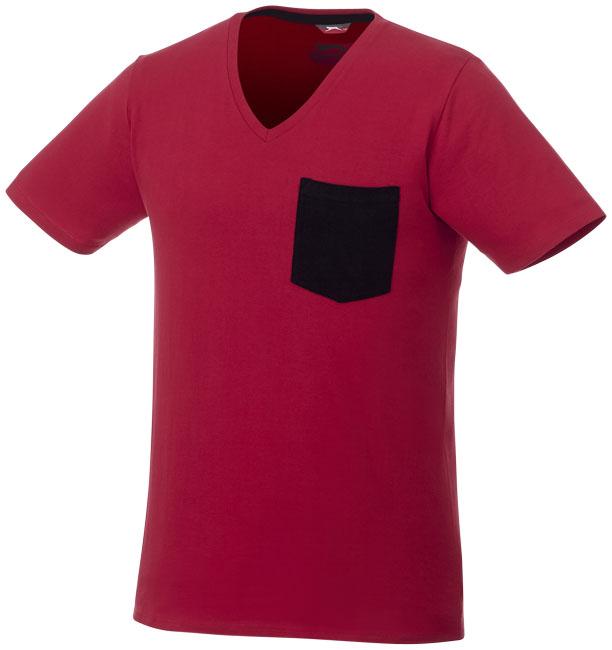 T-shirt Gully V-Neck Man Mörkröd, Marinblå