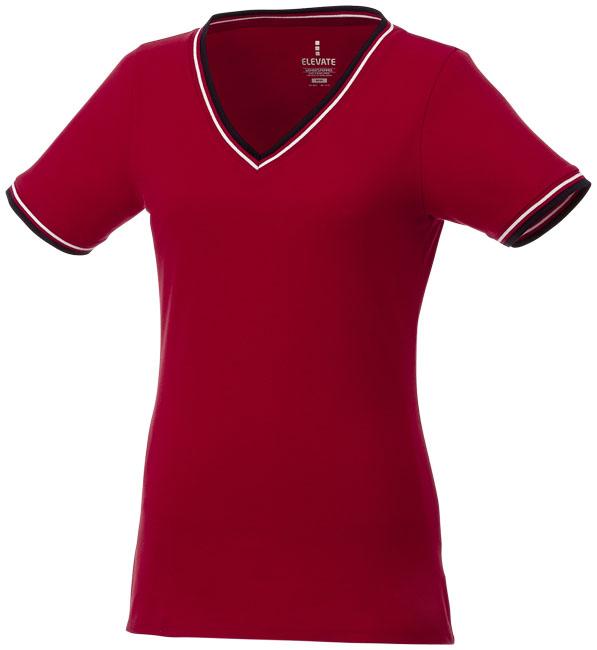 T-Shirt Elbert V-neck Piké Dam röd,marinblå,vit