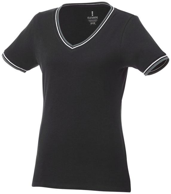 T-Shirt Elbert V-neck Piké Dam svart,gråmelange,vit