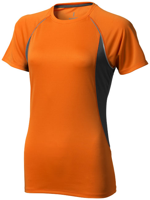 Quebec Ladies Coolfit T-shirt orange,antracit