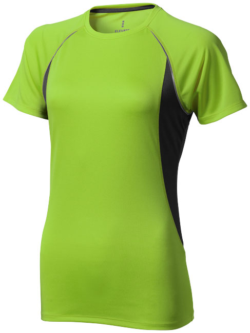 Quebec Ladies Coolfit T-shirt äpplegrön ,antracit