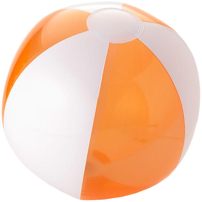 Bondi tvåfärgad badboll Transparent orange, Vit