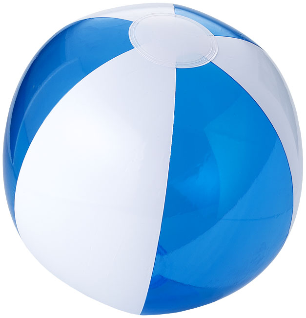 Bondi tvåfärgad badboll Transparent blå, Vit