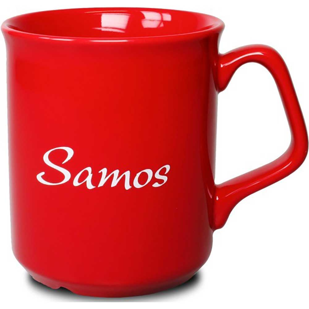 Mugg Samos röd
