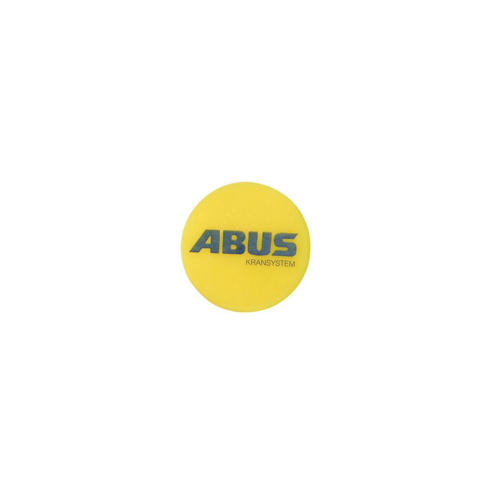 Markeringsknapp plast gul