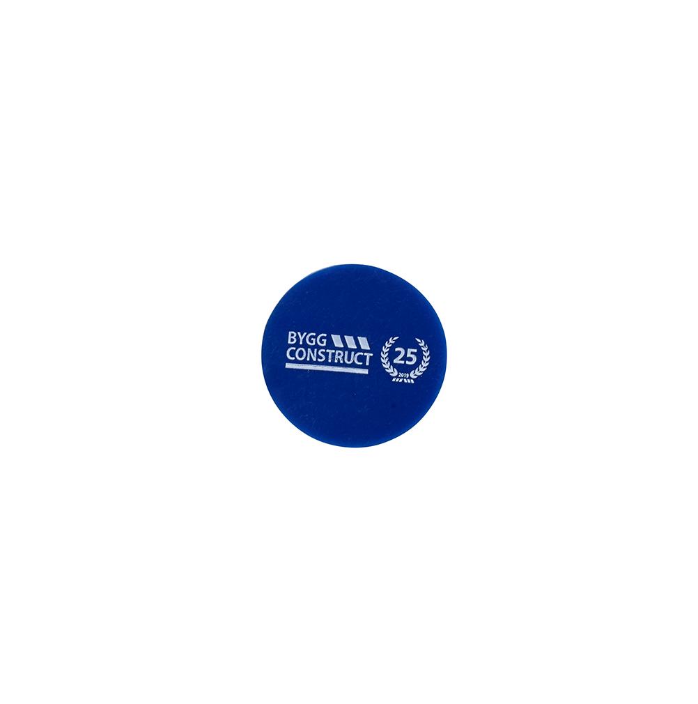Markeringsknapp plast blå