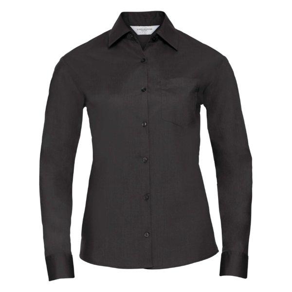 Skjorta Dam Russel Lång ärm svart