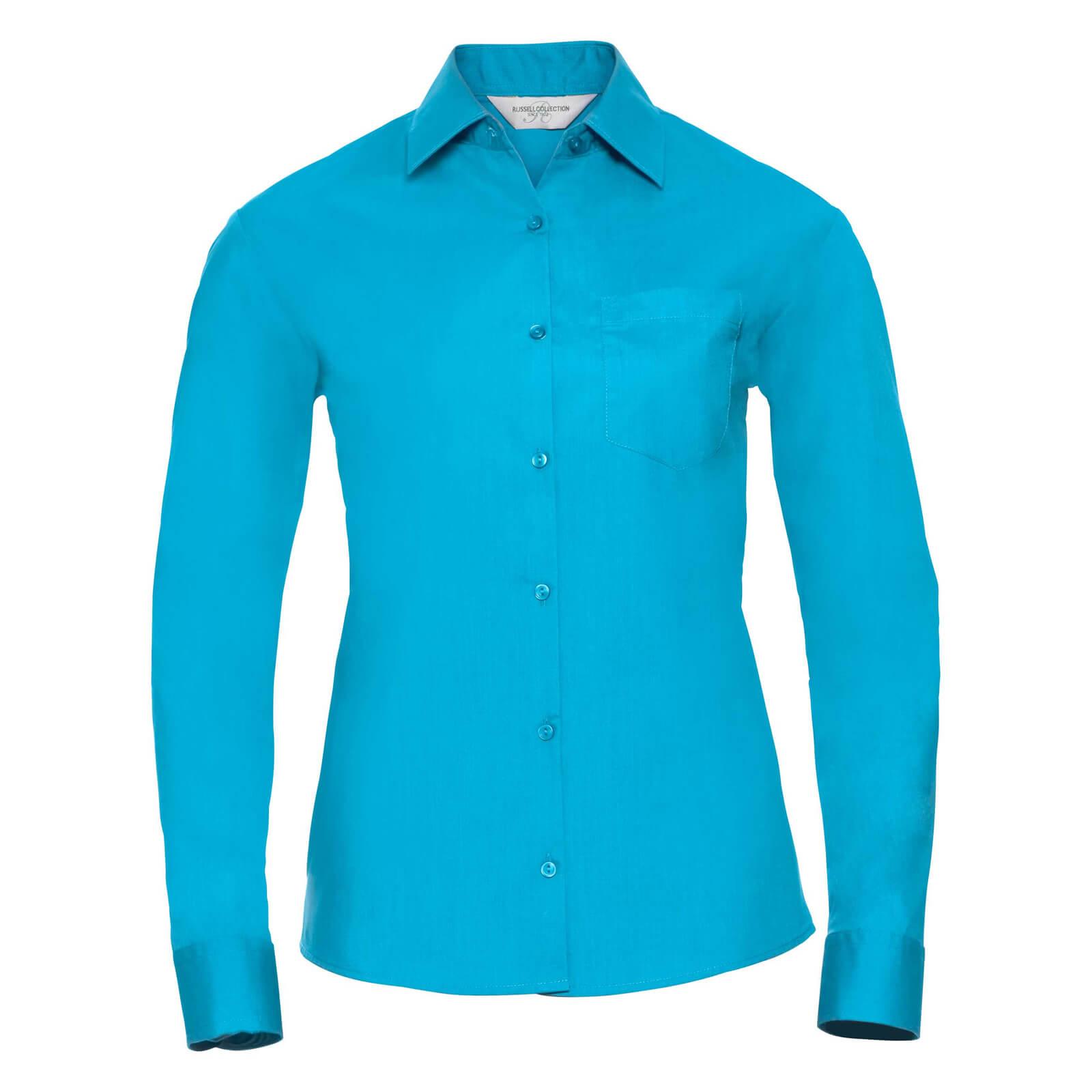 Skjorta Dam Russel Lång ärm turquoise