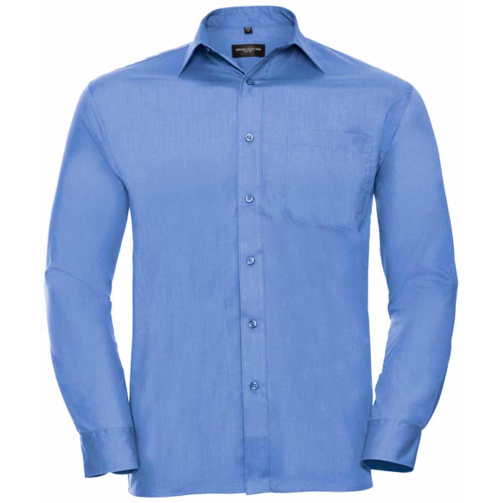 Skjorta Herr Russel Lång ärm corporate blue
