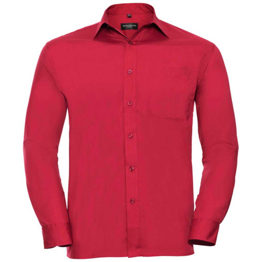 Skjorta Herr Russel Lång ärm classic red