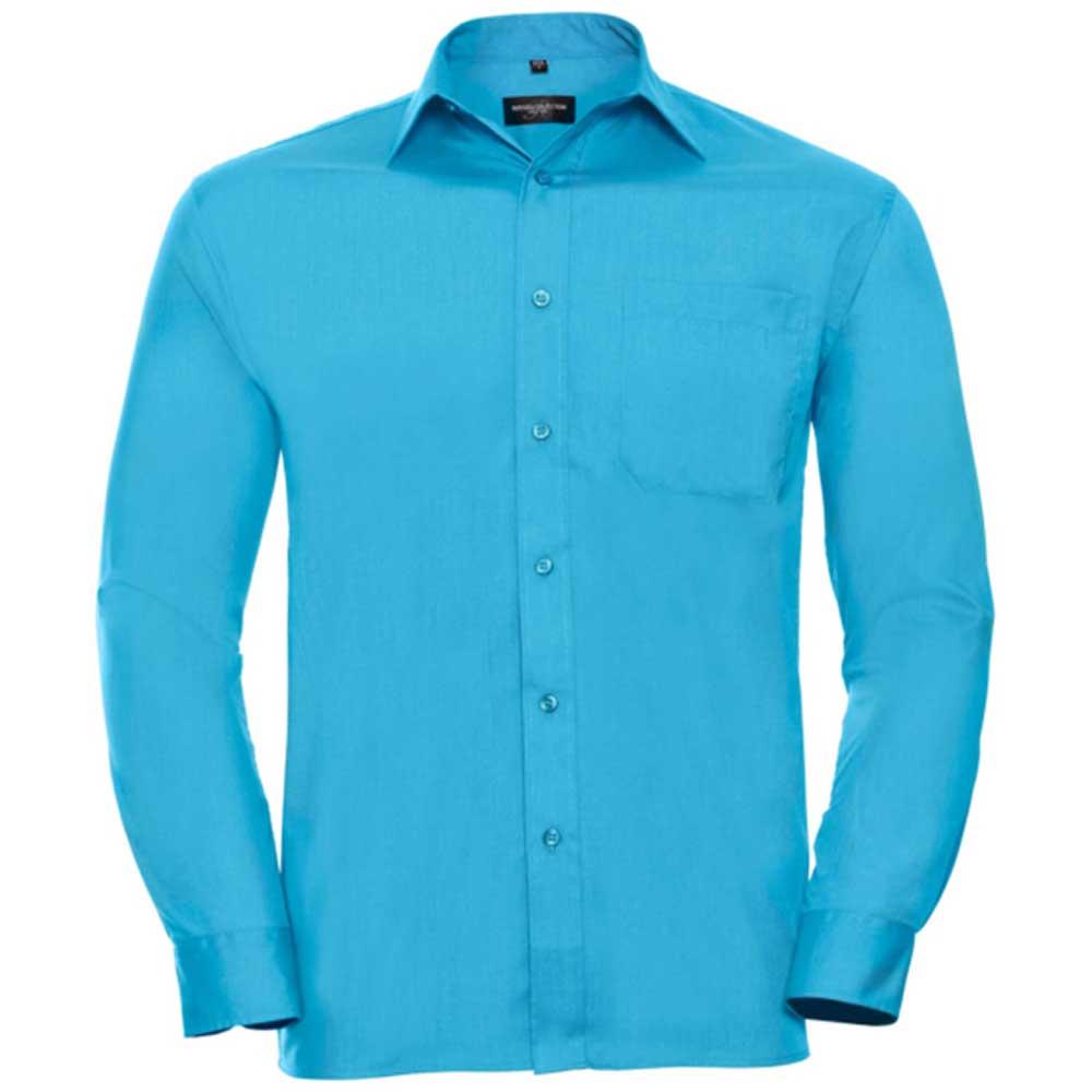 Skjorta Herr Russel Lång ärm turquoise