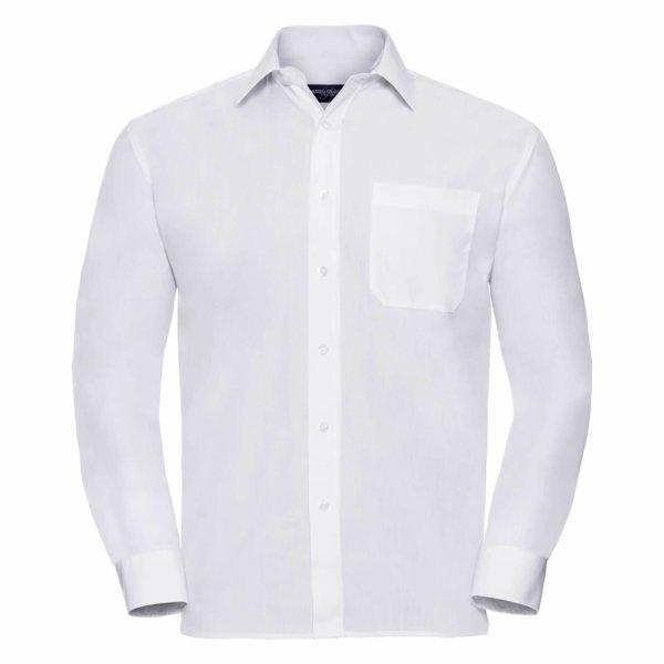 Skjorta Herr Russel Lång ärm white