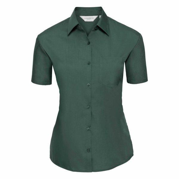 Skjorta Dam Russel kort ärm bottlegreen