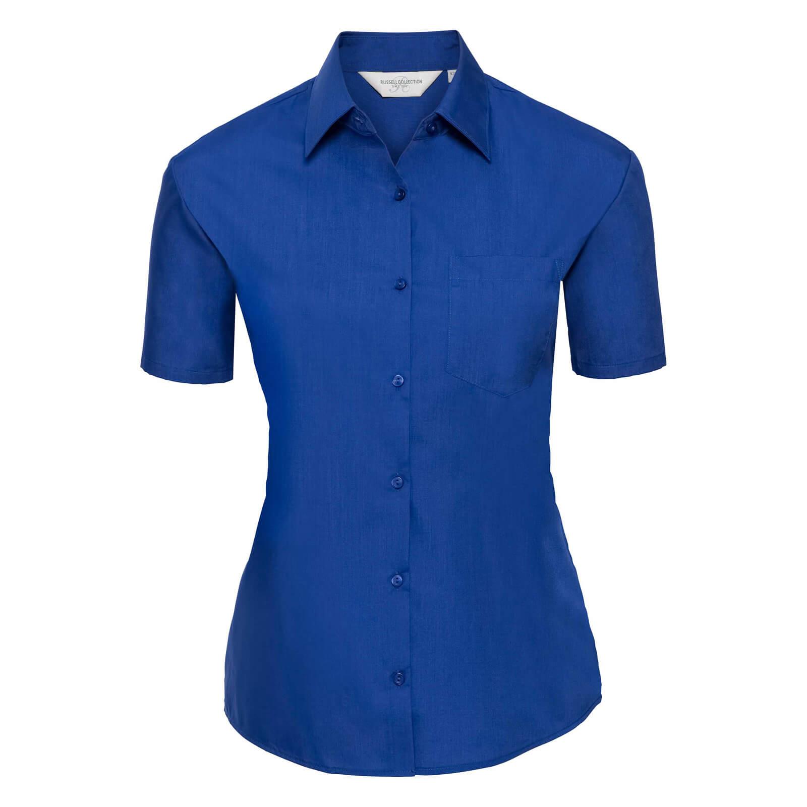 Skjorta Dam Russel kort ärm bright royal