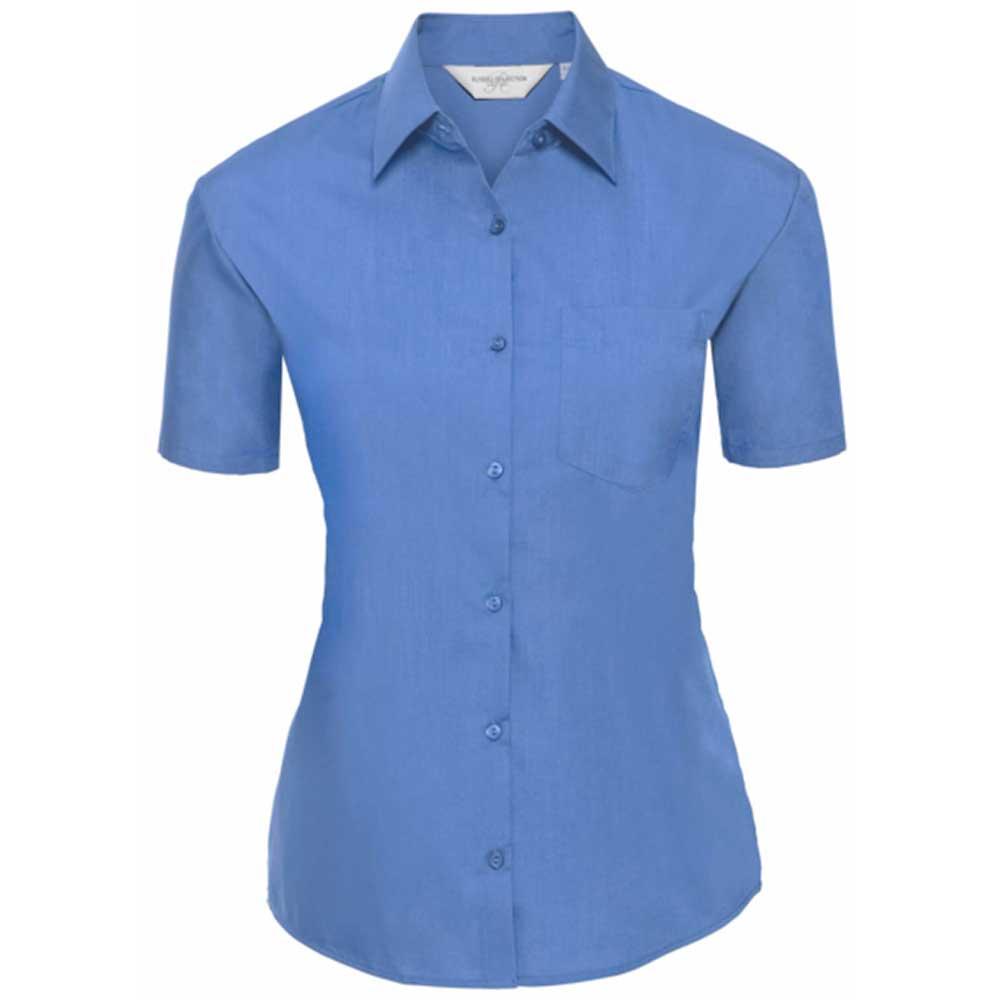 Skjorta Dam Russel kort ärm corporate blue