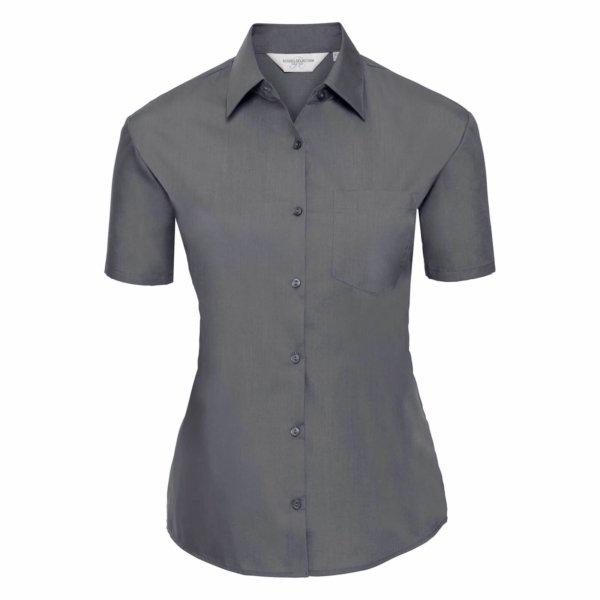 Skjorta Dam Russel kort ärm convoy grey