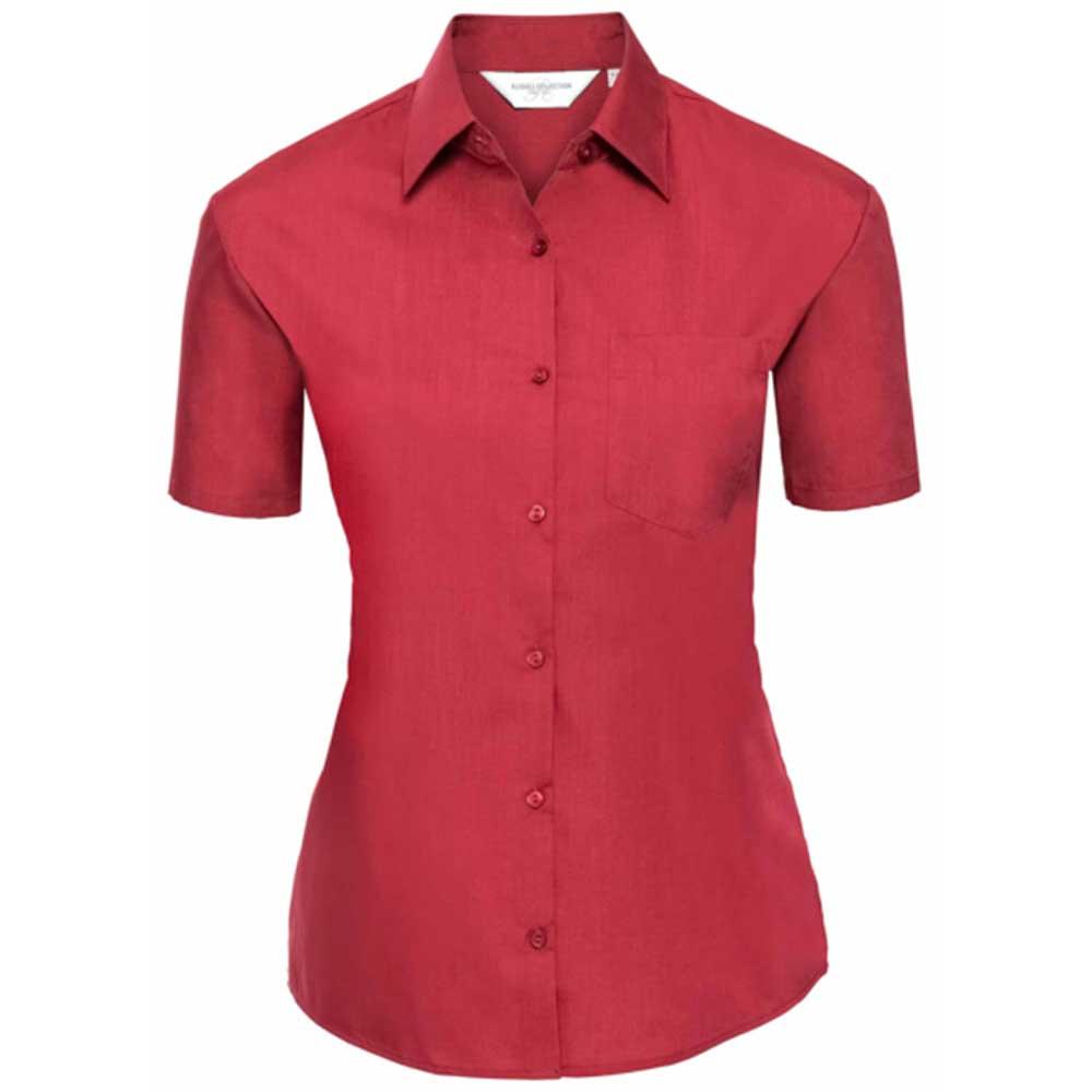 Skjorta Dam Russel kort ärm classic red