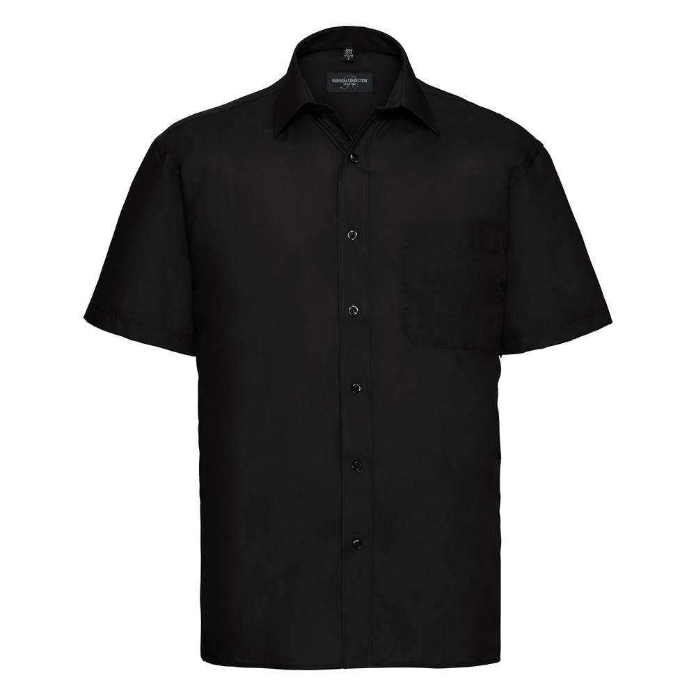 Skjorta Herr Russel kort ärm svart