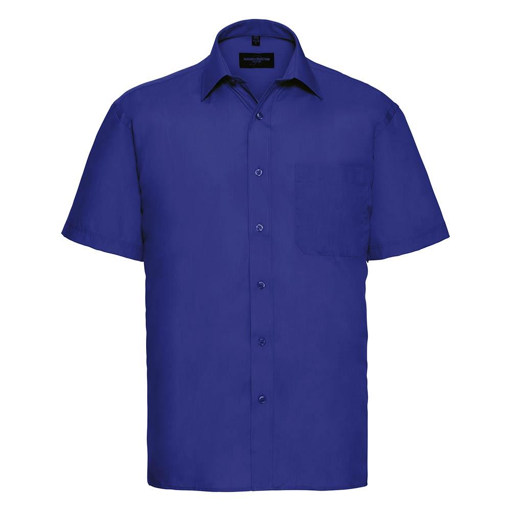 Skjorta Herr Russel kort ärm bright royal