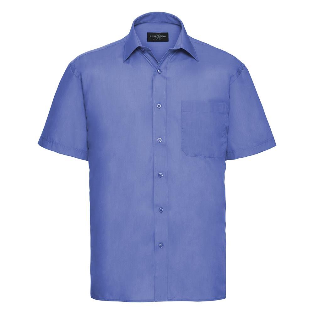 Skjorta Herr Russel kort ärm corporate blue