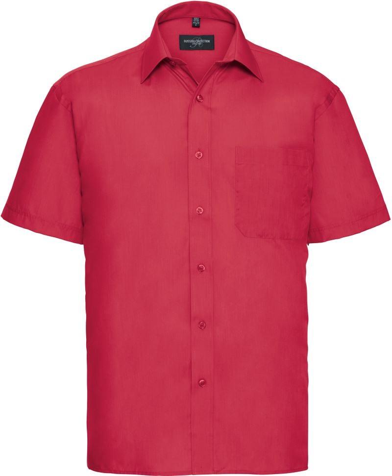 Skjorta Herr Russel kort ärm classic red