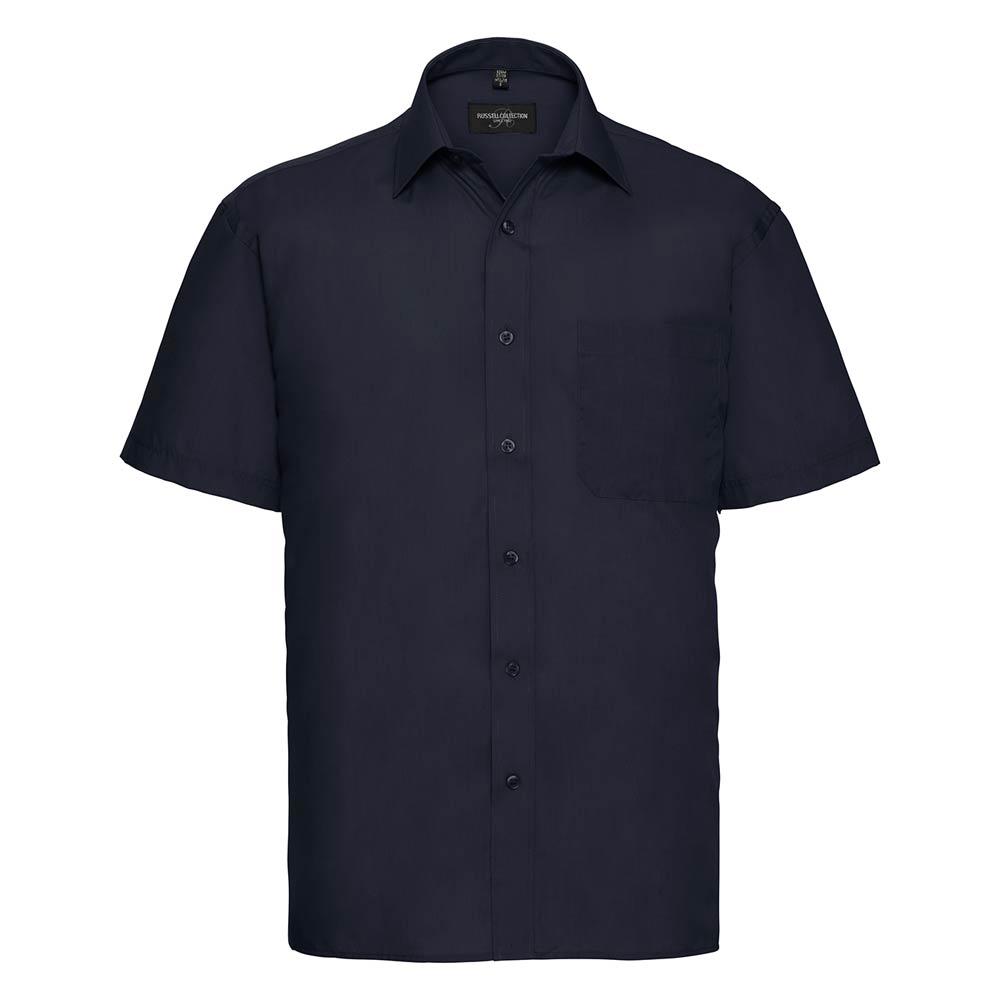 Skjorta Herr Russel kort ärm french navy