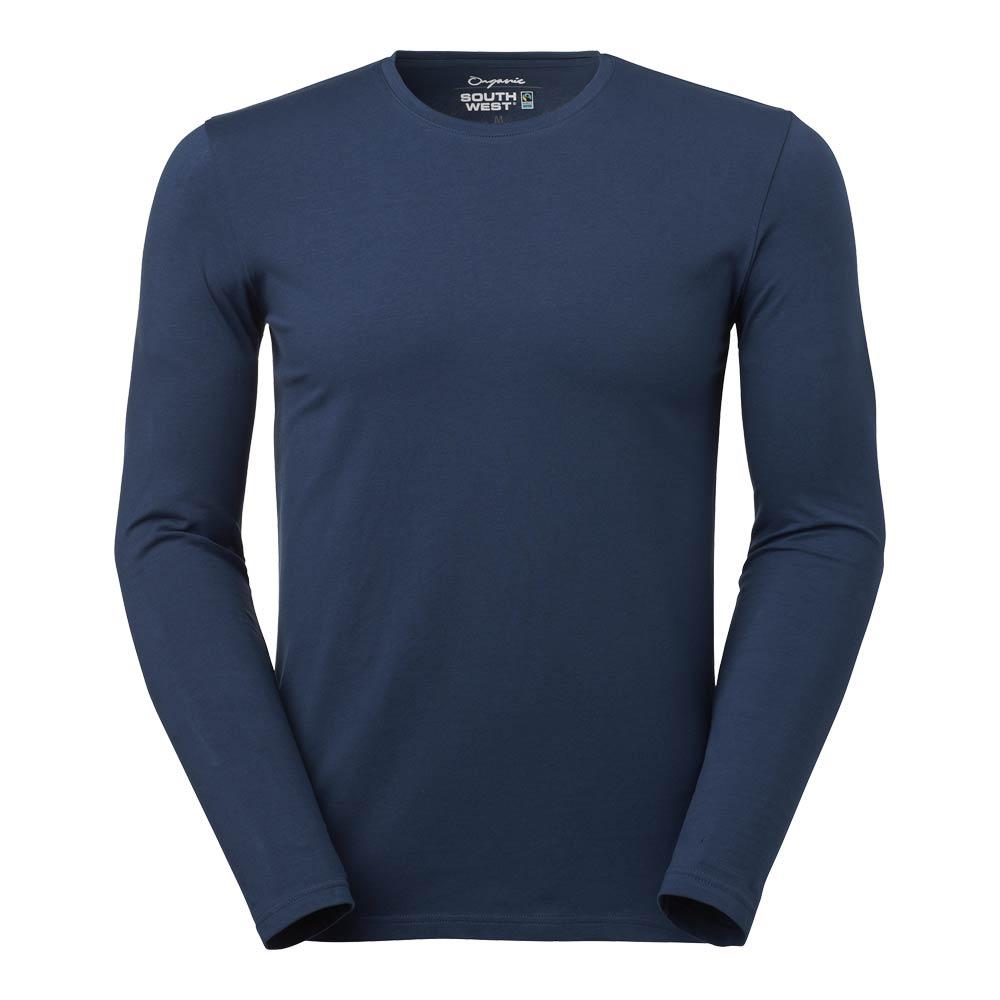 T-shirt Leo L/S Stretch Herr GOTS indigo