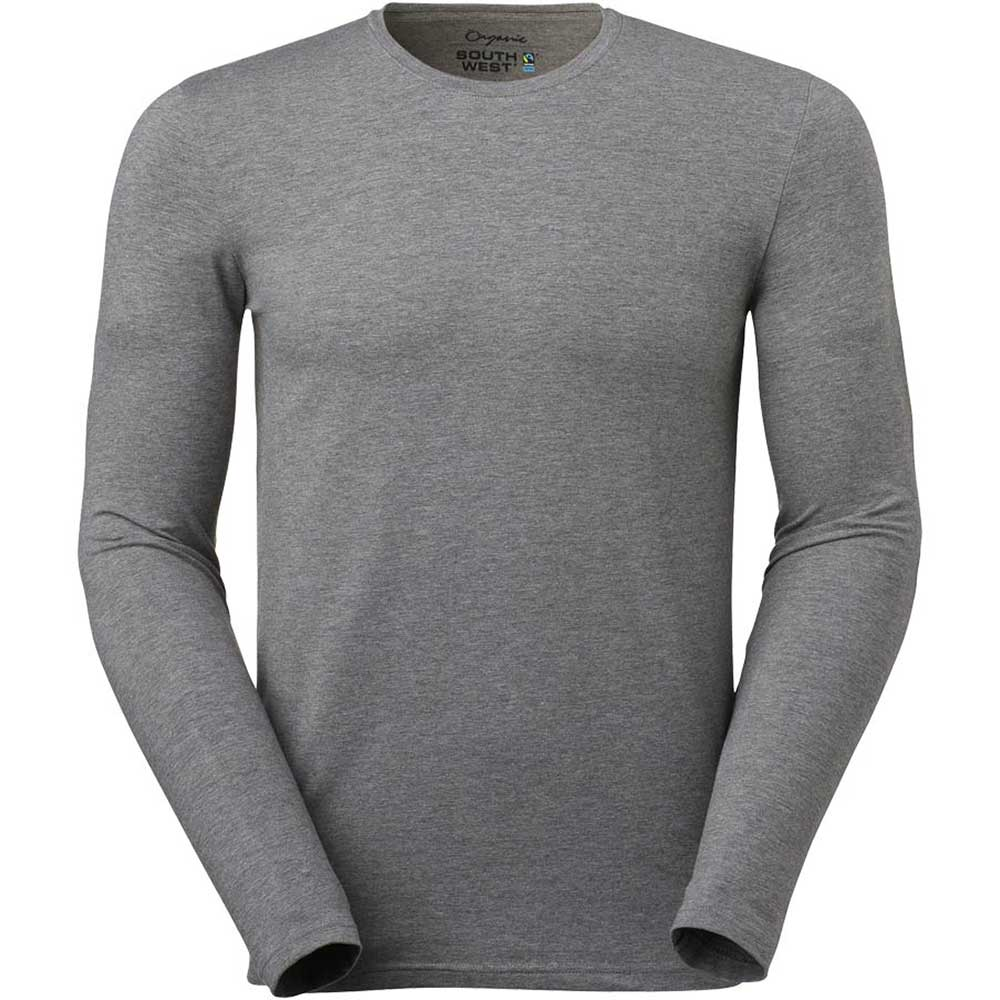 T-shirt Leo L/S Stretch Herr OCS M Greym