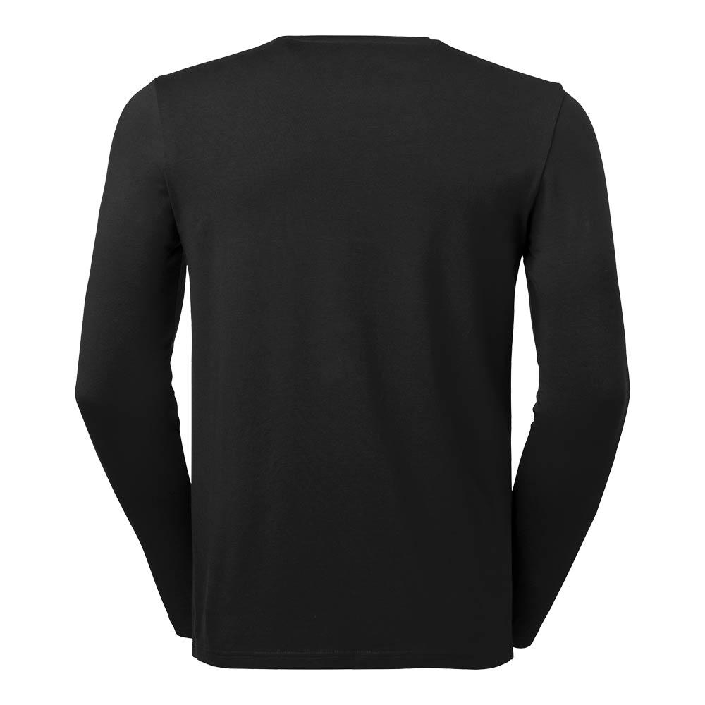 T-shirt Leo L/S Stretch Herr GOTS black