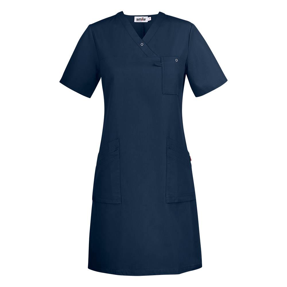 Smila Dress Adina V-Dress W ocean blue