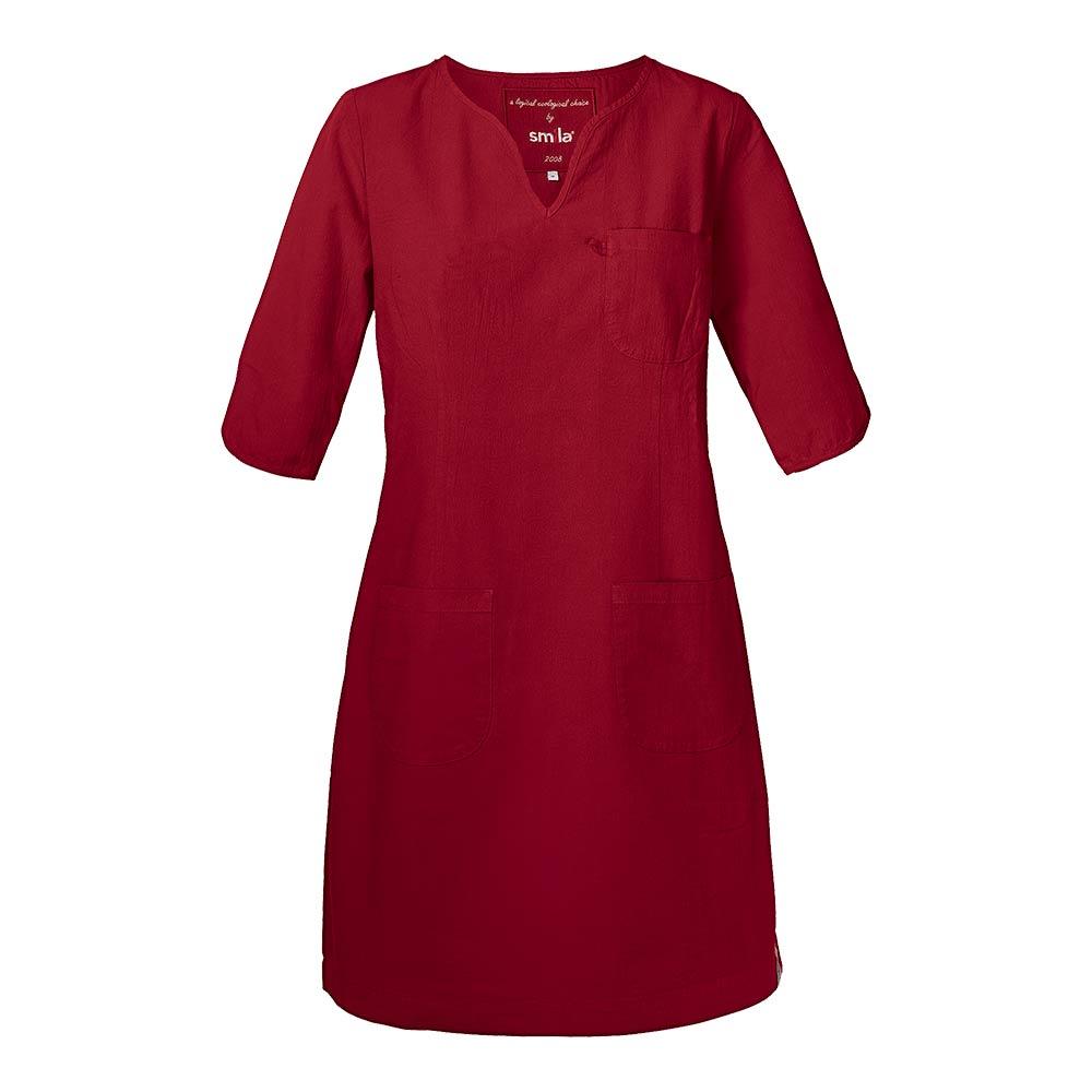 Smila Dress Emma Dress Gots W dark red