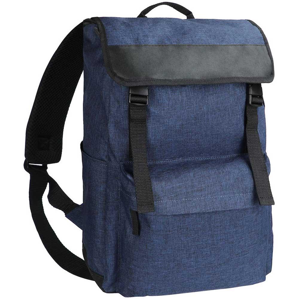 Melange Backpack Blåmelerad