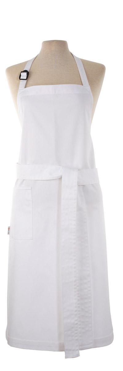 Kron Bröstförkläde vit