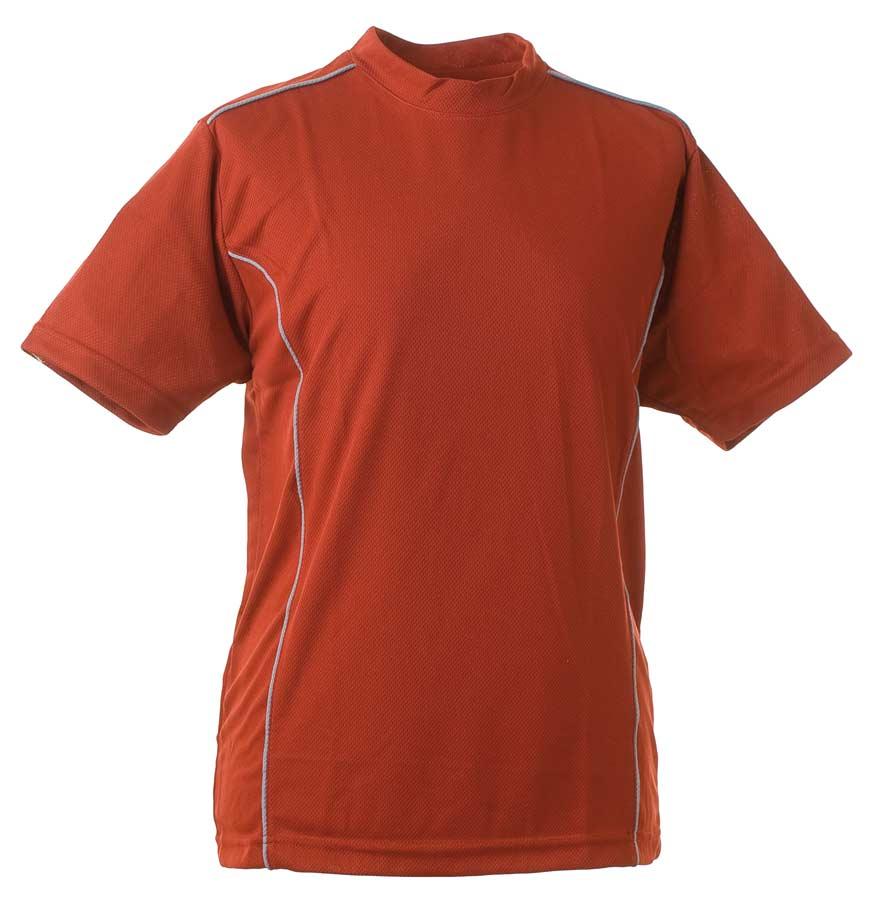 Funktions T-Shirt Mörkröd