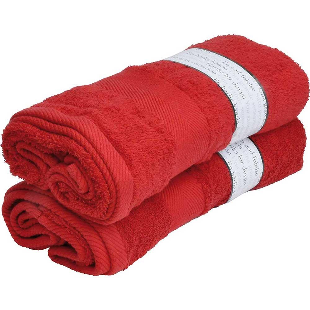 Röd. 65x130 cm.