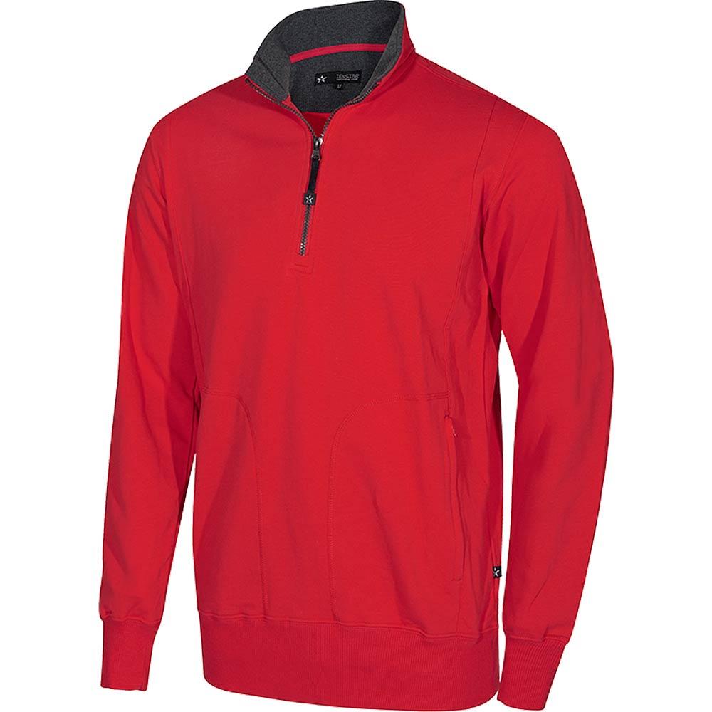 Crew T-Neck Sweatshirt röd