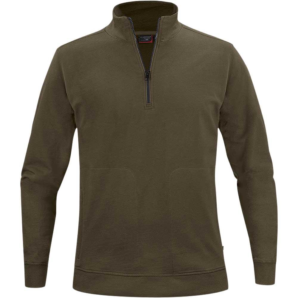 Crew Half Zip Sweater Green